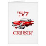 57 Crusin Car Greeting Cards