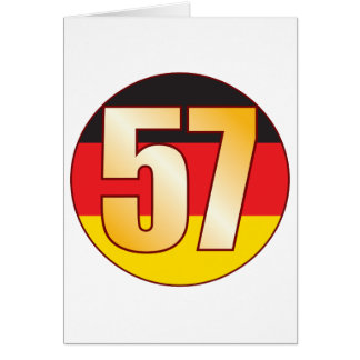 57 GERMANY Gold Greeting Card