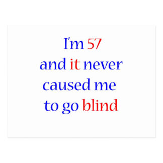 57 never gone blind postcard