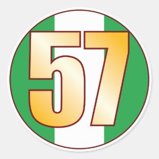 57 NIGERIA Gold Classic Round Sticker