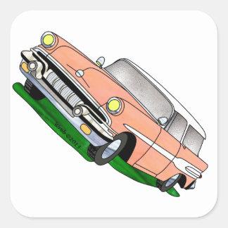 57 Pontiac Safari Square Sticker