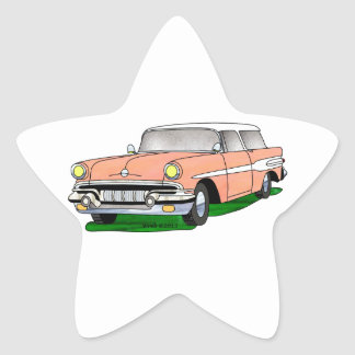 57 Pontiac Safari Star Sticker