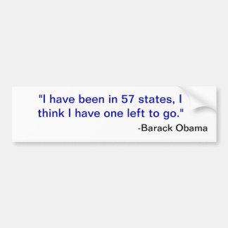 57 states bumper sticker