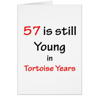 57 Tortoise Years Card