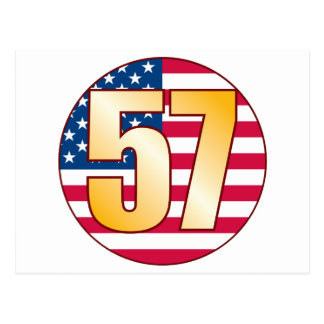 57 USA Gold Postcard