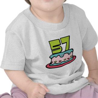 57 Year Old Birthday Cake Tee Shirt