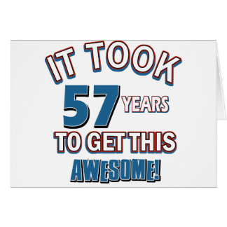 57 year old birthday designs greeting card