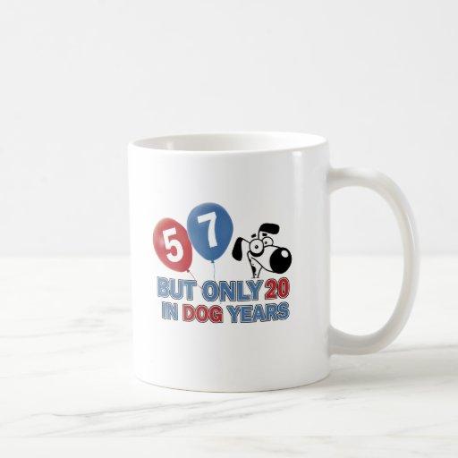 57 years Old birthday designs Mug