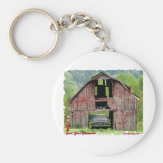 57Chevy Barn Yard Memories Basic Round Button Key Ring