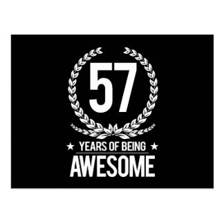 57th Birthday (57 Years Of Being Awesome) Postcard