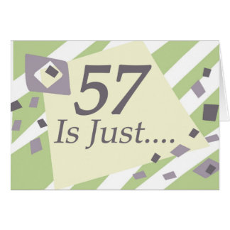 57th Birthday Card