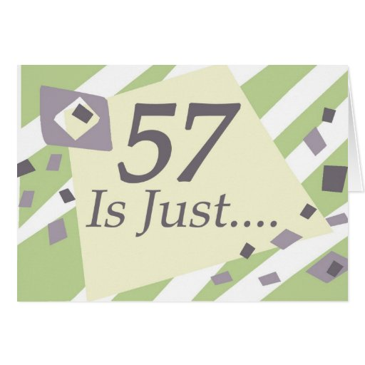 57th Birthday Cards
