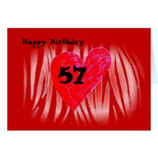 57th Birthday Greeting Card
