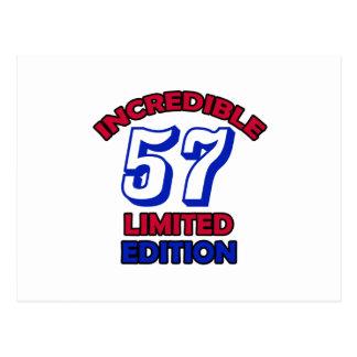57th Birthday Design Postcard