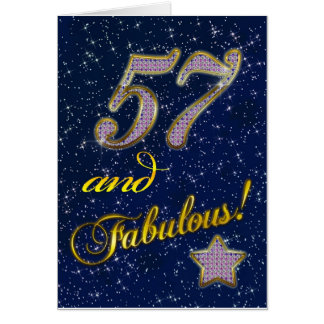 57th birthday for someone Fabulous Card