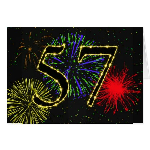 57th Birthday Party Invitation Cards