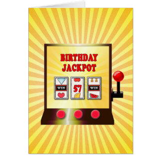 57th birthday slot machine card