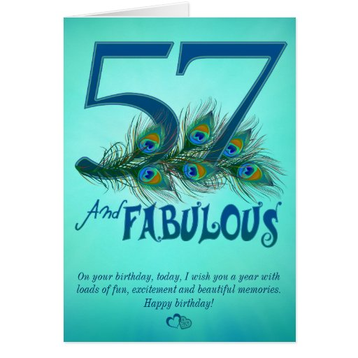 57th Birthday template Cards