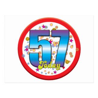 57th Birthday Today v2 Postcard