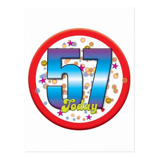 57th Birthday Today v2 Postcards