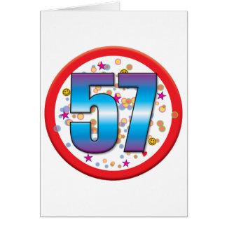 57th Birthday v2 Greeting Cards