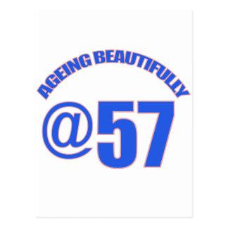 57TH year old designs Postcard