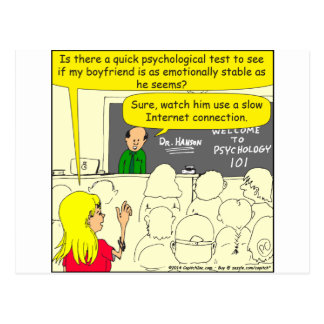 585 psychological test for boyfriend cartoon postcard