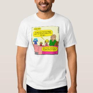 587 doggy went to live on farm cartoon shirt