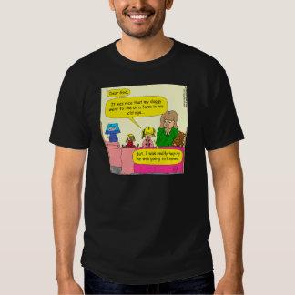 587 doggy went to live on farm cartoon tee shirt