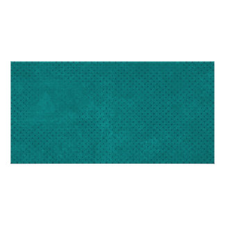 588Teal TEAL BLUE POLKA DOT PATTERN DIGITAL WALLPA Personalized Photo Card