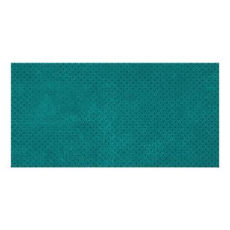 588Teal TEAL BLUE POLKA DOT PATTERN DIGITAL WALLPA Picture Card