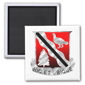 588th Engineer Battalion Square Magnet