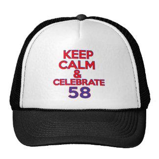 58 birthday design cap