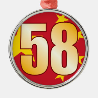 58 CHINA Gold Christmas Ornament