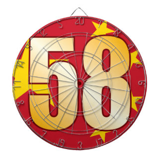 58 CHINA Gold Dartboard
