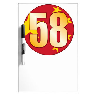58 CHINA Gold Dry Erase Board