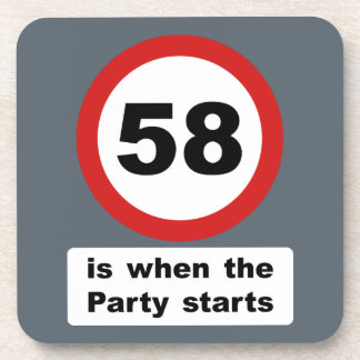 58 is when the Party Starts Drink Coaster