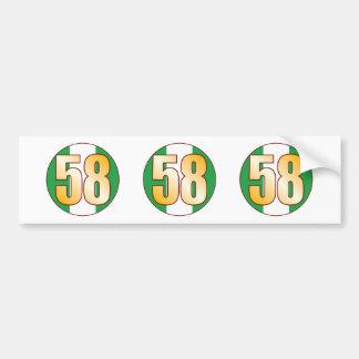 58 NIGERIA Gold Bumper Sticker