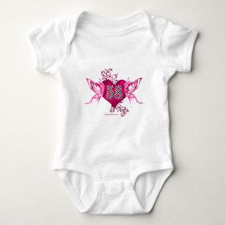 58 racing number butterflies baby bodysuit