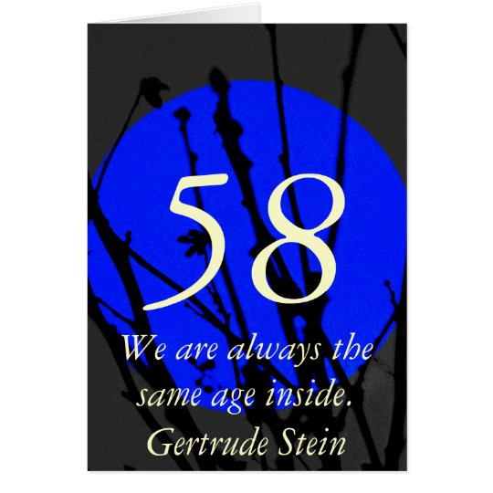 58th Age Birthday Quote Greeting Card