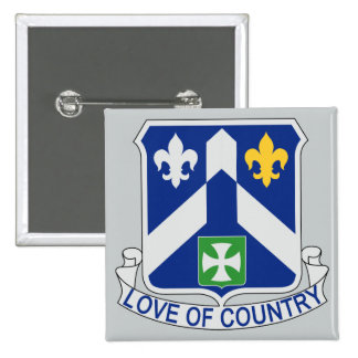 58th Infantry Regiment - Love Of Country 15 Cm Square Badge