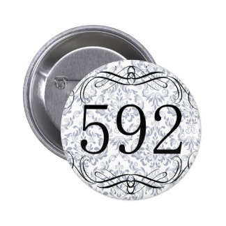 592 Area Code Pinback Buttons
