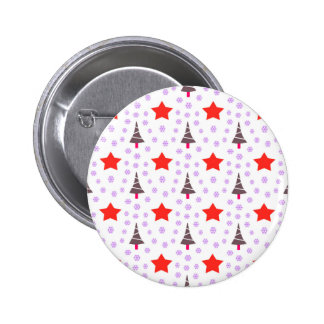 592 Cute Christmas tree and stars pattern.jpg 6 Cm Round Badge