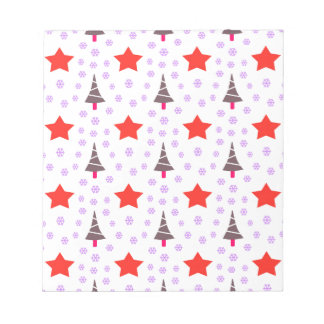 592 Cute Christmas tree and stars pattern.jpg Notepad