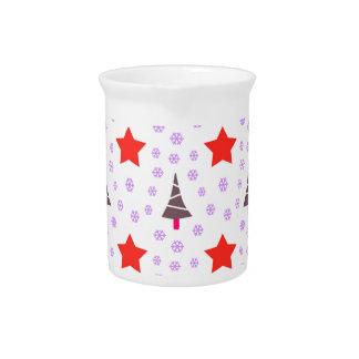 592 Cute Christmas tree and stars pattern.jpg Pitcher