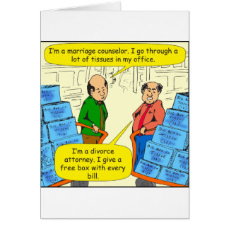 592 give tissue with every bill cartoon greeting card
