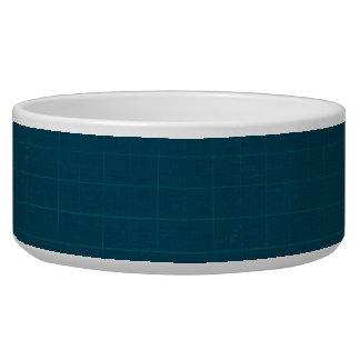 592_navy-grid-paper NAVY BLUE GRID PAPER TEXTURE B Pet Bowls