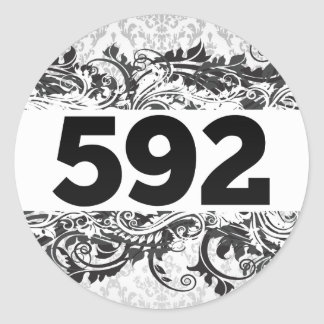 592 ROUND STICKERS