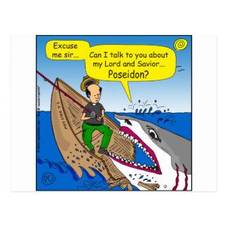 595 Poseidon cartoon Postcard