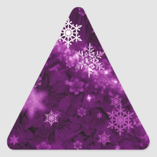 597 DEEP PURPLES WHITE WINTER FROST SNOWFLAKES BAC STICKER